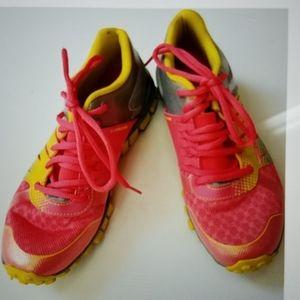 Reebok real flex running shoes 6 orange